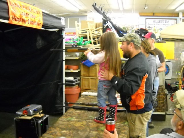 No matter how short, or how young, or how tall, or how old, everybody can test their shooting skills with laser-guns, air-rifles and BB-guns at the Wildlife Appreciation and Conservation Days, September 11-12, in Emporia.