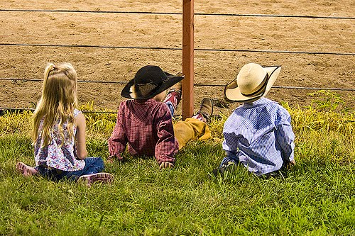 From the sidelines to the arena dust, little cowboys and cowgirls are what the Morris County Youth Rodeo Association is all about. They'll be watching the ranch rodeo Sunday, Oct. 4, at Council Grove, and also getting in on the action during the junior ranch rodeo in the morning, as well as mutton busting and other activities during the afternoon.