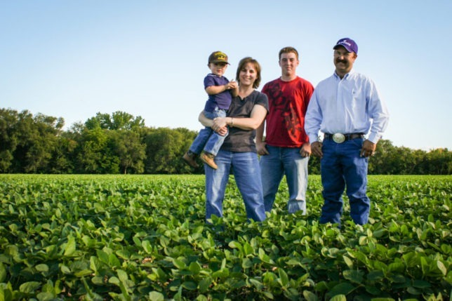 LaVell and Andy Winsor and their two sons raise soybeans and corn in additional to having cattle and haying operations at their farm near Grantville in Jefferson County.