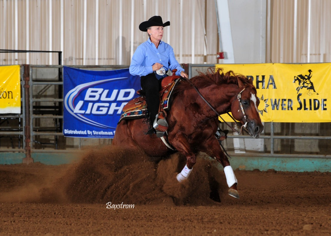 Perfection performance produced more than $50,000 in National Reining Horses Association winnings for Missy Hood and Watch This Way.