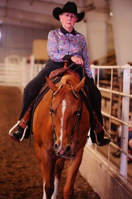 Shirley Brown, Bennington, has collected a number of awards in walk-trot competitions at South Central Stock Horse Association shows.