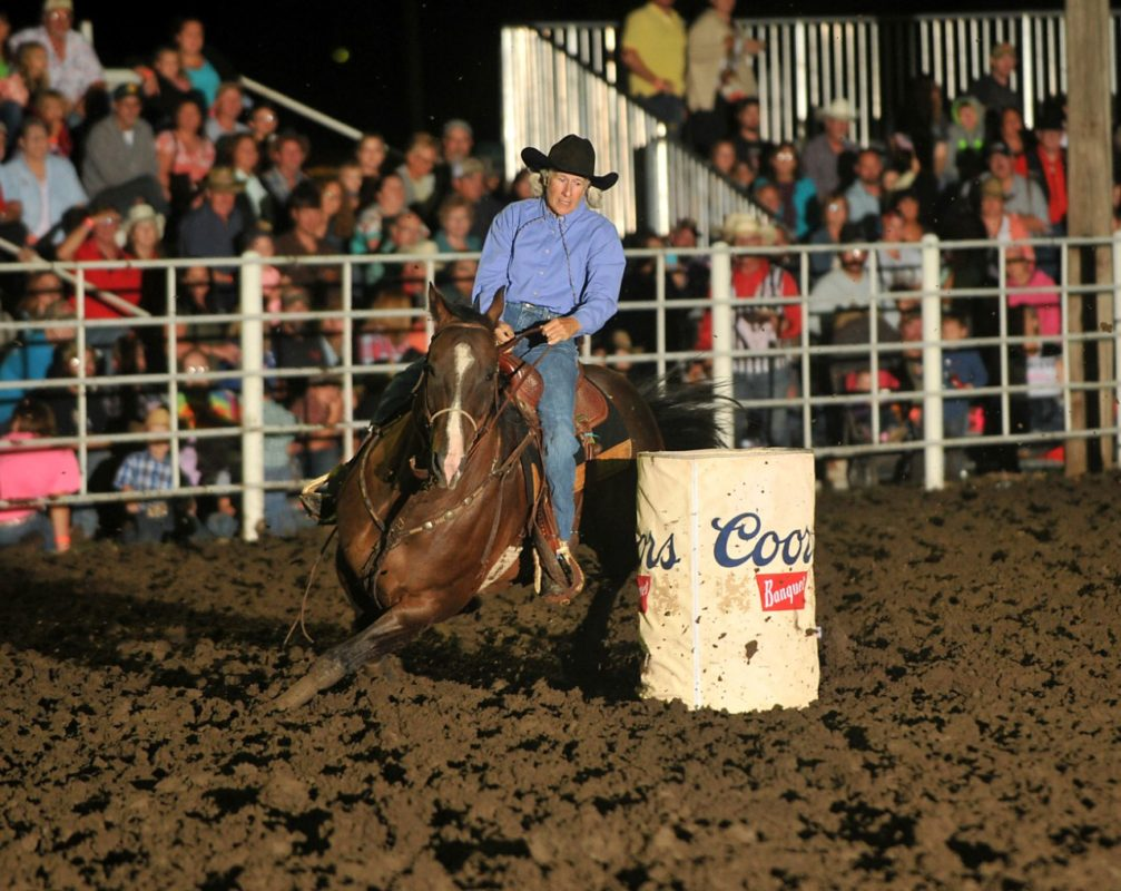 Jeanne Anderson, White City, won the Eastern Kansas Pro Rodeo Series barrel racing championship with consistent placings of fourth at Mound City and second and third place go-round finishes at Eureka, as well as competing at Coffeyville. (Dale Hirshman photo)