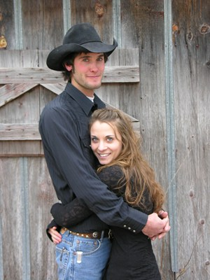 Mark and Cecilia Peters keep busy with a ranching operation at Randall in Jewell County. But weekends finds them at rodeos where he'll be all decked out in clown garb and face paint working as a bullfighter, and she'll have her hat pulled down tight competing on her horse in the barrel race.