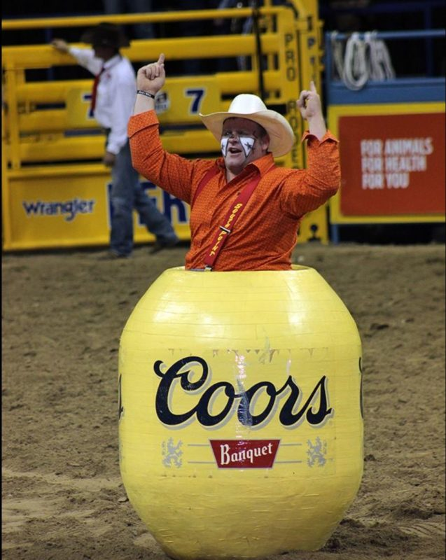 Rumpshaker Back To Work As World S Best Rodeo Clown