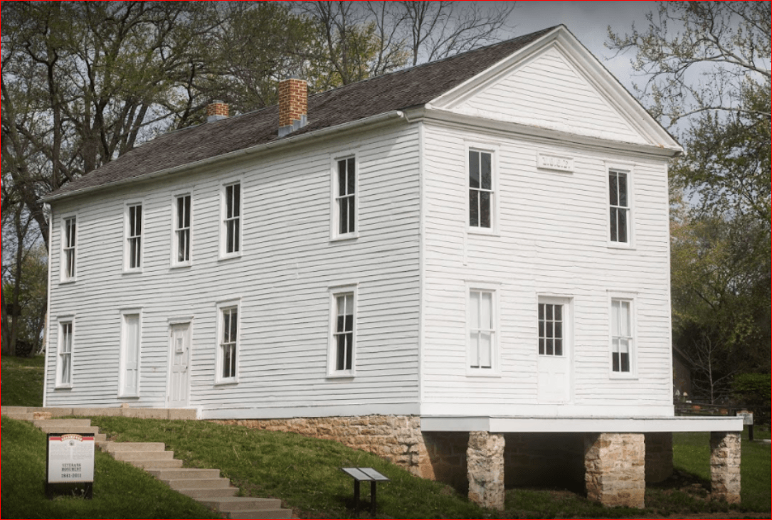 A 1975 ceremony in Lecompton dedicated Constitution Hall as a National Historic Landmark also now serving as a museum.