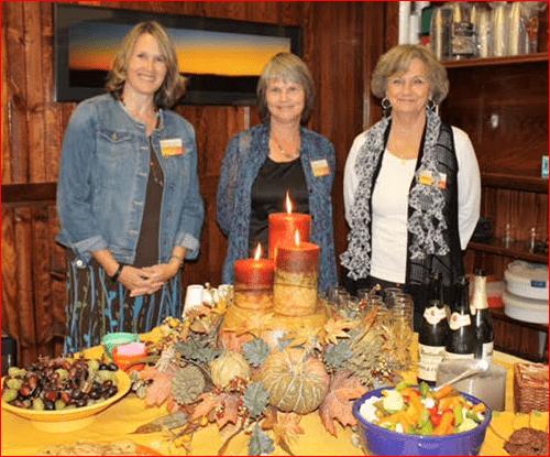 Carol Wright, Rhonda Davis and Karen Waring
